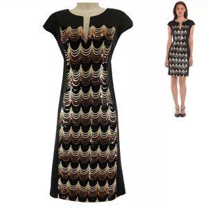 18W 2X▪️SEQUIN PANEL SCUBA SHIFT DRESS Plus Size